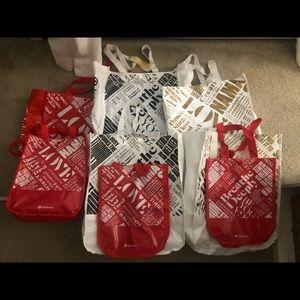 Lululemon Sustainable Tote Bags (set of 8).